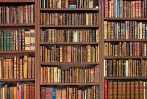 Bookshelves Full of Rare Books